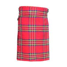 Scottish Royal Stuart Kilt Men's 5 Yard Casual Tartan Kilt Highland Dress Kilt