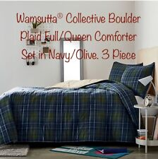 Wamsutta® Collective Boulder Plaid Full/Queen Comforter Set in Navy/Olive 3 Pcs