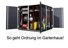 Designer-Gartenhaus Gartenschrank Gerätehaus modern Schuppen Flachdach Metall