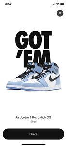 Nike Air Jordan 1 Retro High 'University Blue' - UK 9 (US 10) CONFIRMED ORDER!