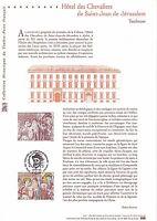 Document Philatélique 1er Jour : 21/04/ 2001 - Toulouse Hôtel des Chevaliers