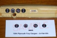 1964 PLYMOUTH FURY GAUGE FACES for 1/25 scale JOHAN KITS