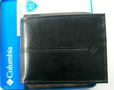 Columbia Mens Bifold Leather RFID Security Wallet Black 31CP220007