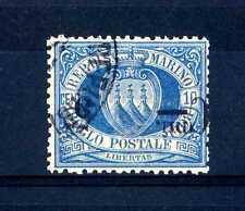 SAN MARINO - 1892 - 5 cent. su 10 cent. azzurro (3A) - sovrastampa capovolta - u