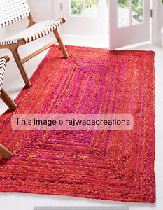 Indian Cotton Rug Runner Braided Runner Floor Rug Braided Runner 2x8 Feet