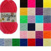 King Cole Dollymix DK Knitting Yarn 25g Acrylic Crochet Wool