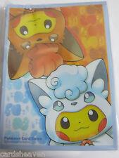 Pokemon 64X Protèges Cartes Sleeve Pikachu Poncho Goupix d'Alola Neuf NEW