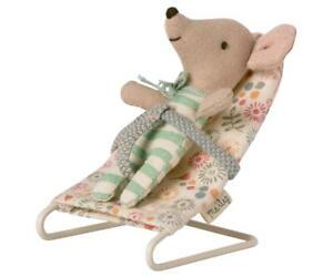 Maileg Puppenhaus Möbel Vintage Baby Wippe Micro Hasen Baby Mäuse Maus