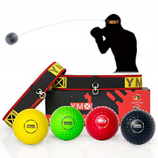Ymx Boxing Ultimate Reflex Ball Set - 4 React Reflex Ball Plus 2 Adjustable for