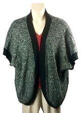 Womens Covington Open Front Cardigan Sweater Plus Size 20/22 Black Dolman Sleeve