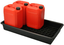 60L Oil and Chemical Bunded Drip Tray Sump Spill Pallet with Removable Grid
