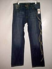 COOGI 1969 JEAN CLR:L.T. WASH BLUE GOLD CHAIN EMBROIDERED (C4J2814) 20  NWT $135