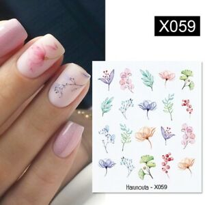 Nail Art Sticker DIY Manicure Water Transfer Decal Flower Leaf Tropical Decor