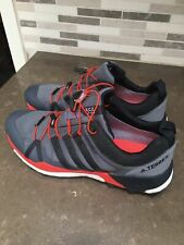 Adidas Terrex 355 Skychaser LT Gore-Tex Trail Shoes Bungee Close Gray Orange 9.5