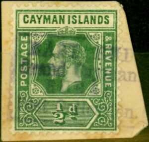 Cayman Is 1912 1/2d Green SG41 Fine Used 'East End Grand Cayman' Rural Post H...