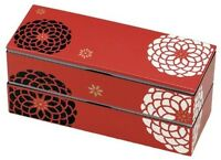 New BENTO Lunch Box Red Japanese Traditional Design Special Japan