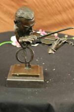 Vintage Modern Art Design Violin Player Bronze Sculpture Figurine Artwork Sale