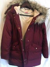 J.CREW CREWCUTS GIRLS' PUFFER PARKA COAT SIZE 16 DARK WINE F4400