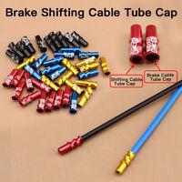 10Pcs/Set  Aluminum Bicycle Brake Shifter Cable Cap Tip Wire End Cap Crimps Lots