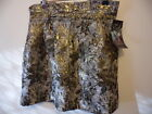 brand new with tags ZARA Night Collection metallic gold skirt UK size 8 EU 36
