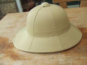 BRITISH ARMY WOLSELEY REPRO KHAKI SAND TROPICAL SAFARI SUN PITH TOPEE HAT HELMET