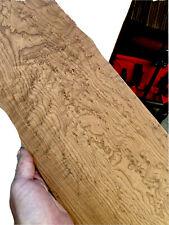 """Roasted Birdseye Maple 🍁 🎸Fretboard Top Lumber Sanded Bass .3""""x8.5""""x40"""" Wide"""