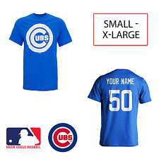 Personalised Chicago Cubs Official MLB T-Shirt Adult Mens Name Number Jersey Top