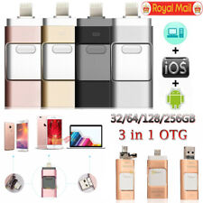 256GB i Flash Drive USB Memory Stick U Disk 3 in 1 For Android IOS iPhone PC UK