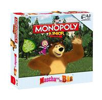 Monopoly Junior Masha und der Bär Kinderspiel Gesellschaftsspiel Spiel NEU