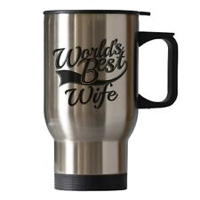 Wife Birthday Christmas Novelty Gift Travel Thermal Cup Mug Silver