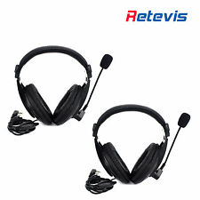 2PCS Retevis PTT Headset Earpiece for Kenwood Walkie Talkie H777 Baofeng 888s
