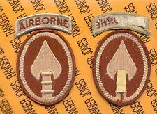 US Special Operations Command Airborne USSOCOM Desert DCU patch m/e