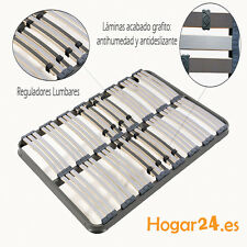 Somier Somieres multilaminas Hytrel 135X190cm,reguladores lumbares, tubo 40 x 30