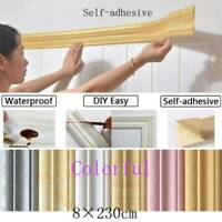 Self-sticking Waterproof 3D Wall Border Home Wall Decor Removable Sticker F6