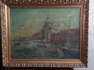 dipinto antico Venezia - olio su tela-
