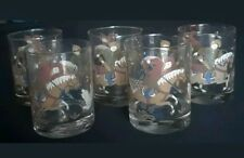 Cera Set of 5 Genghis Khan Maharajah Tiger Hunting MCM Glasses Old Fashioneds