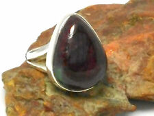 RUBY / Zoisite   Sterling  Silver  925  Gemstone  RING  -  Size: P -  Gift Boxed