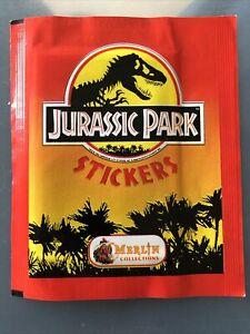 Jurassic Park 1992 Merlin Unopened Sticker Packet Rare