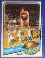 GAIL GOODRICH HOF autographed  signed 1979-80 Topps Utah Jazz
