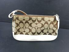 Coach No L042-6094 Purse Handbag Signature Fabric White Leather trim(  443C) 740d0753eef0c