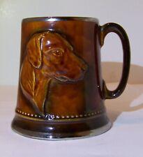 Vintage SylvaC Brown Glazed Tankard Mug With Hunting Dog #2375