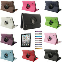 """360 Rotating PU Leather Case Smart Cover Stand For Samsung Galaxy Tab 2 7"""" P3100"""