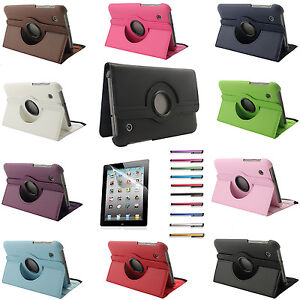 """Rotating PU Leather Case Smart Cover Stand For Samsung Galaxy Tab 2 7"""" P3100"""