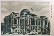 Early 1900s Undivided Back Postcard Newark, NJ New Jersey City Hall