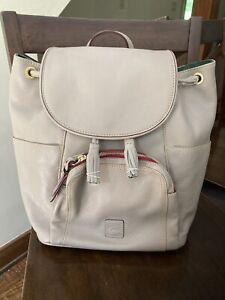 dooney & bourke murphy backpack florentine tan leather bag drawstring Large