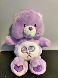 "2002 SHARE BEAR Care Bears Plush Purple Lollipops 12"""