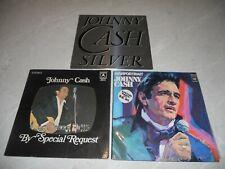 Bulk Various 3 x Johnny Cash LP Albums Folk Country EX