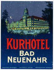 1930's Pashal Richter Kurhotel Bad Neuenahr Germany Luggage Label