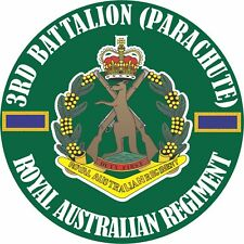 3RD BATTALION (PARACHUTE) ROYAL AUSTRALIAN REGIMENT UV LAMINATED VINYL STICKER