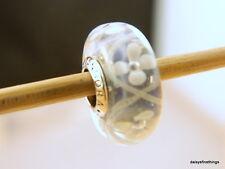 NEW!AUTHENTIC PANDORA CHARM GLASS MURANO PINK FIELD OF FLOWERS  #791665    P